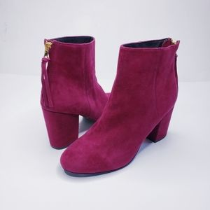 Steve Madden Burgundy Cynthia Suede Ankle Boots